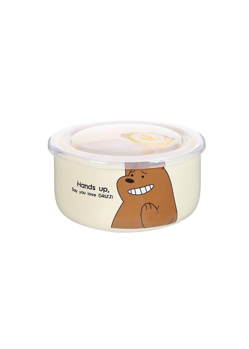 Qida üçün konteyner Miniso We Bare Bears Simple Bowl (Grizz), 460 ml