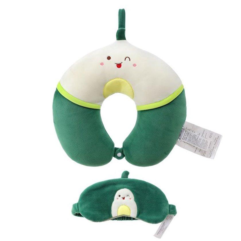U şəkilli boyun yastığı Miniso Fruit Series-Eye Mask (Avocado)