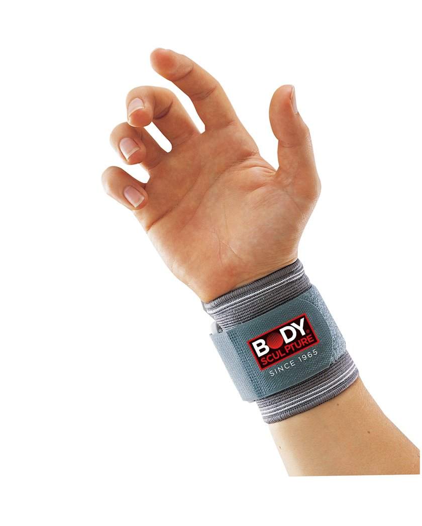 Bilək dəstəyi Body Sculpture Elastic Wrist Support, Boz, Ölçü L