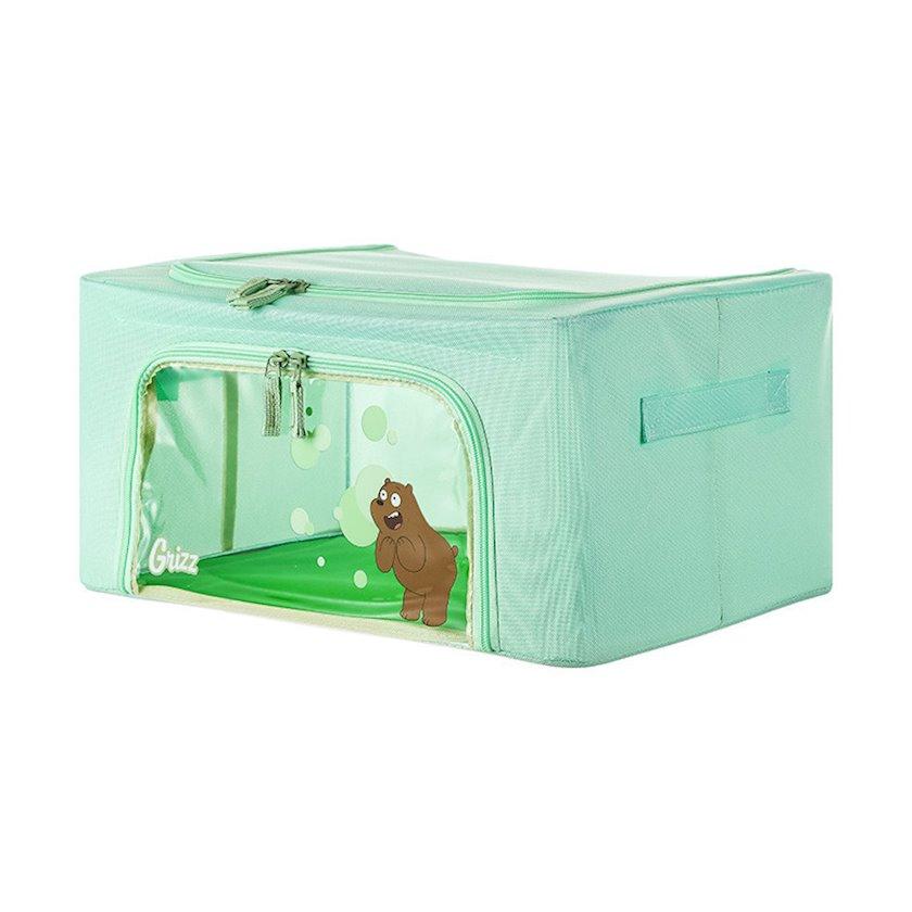 Təşkilatçı Miniso We Bare Bears 24L Storage Case(Grizzly)