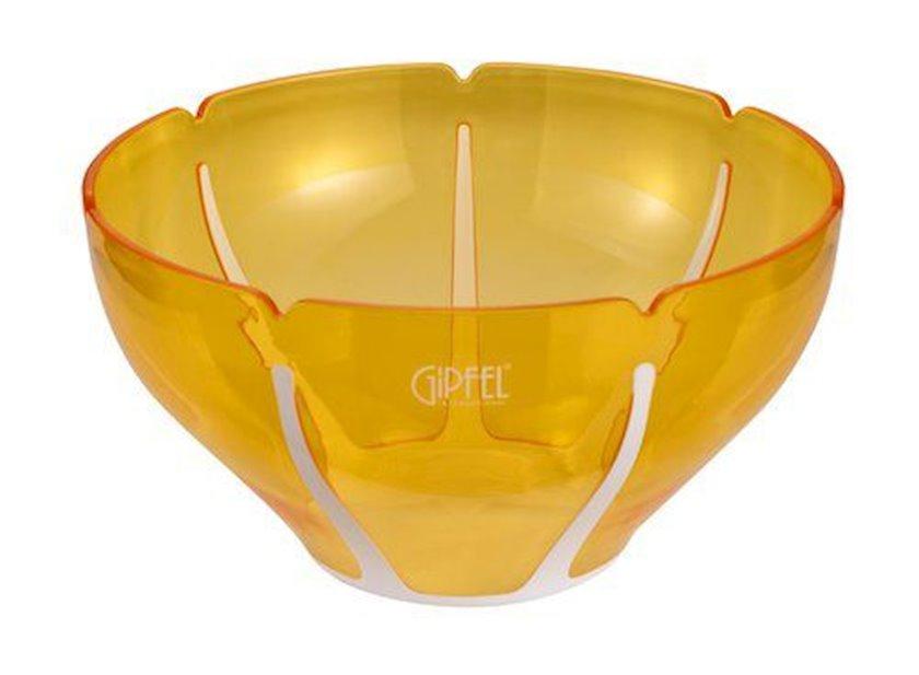 Salat qabı Gipfel AMADEUS 9447 26х26х14, 3sm, Material: plastik, Rəng: yaşıl və sarı