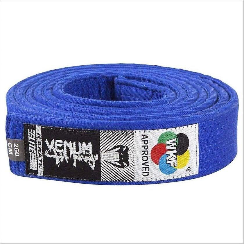 Karate üçün kəmər Venum WKF Approved göy, uzunluq 260 sm