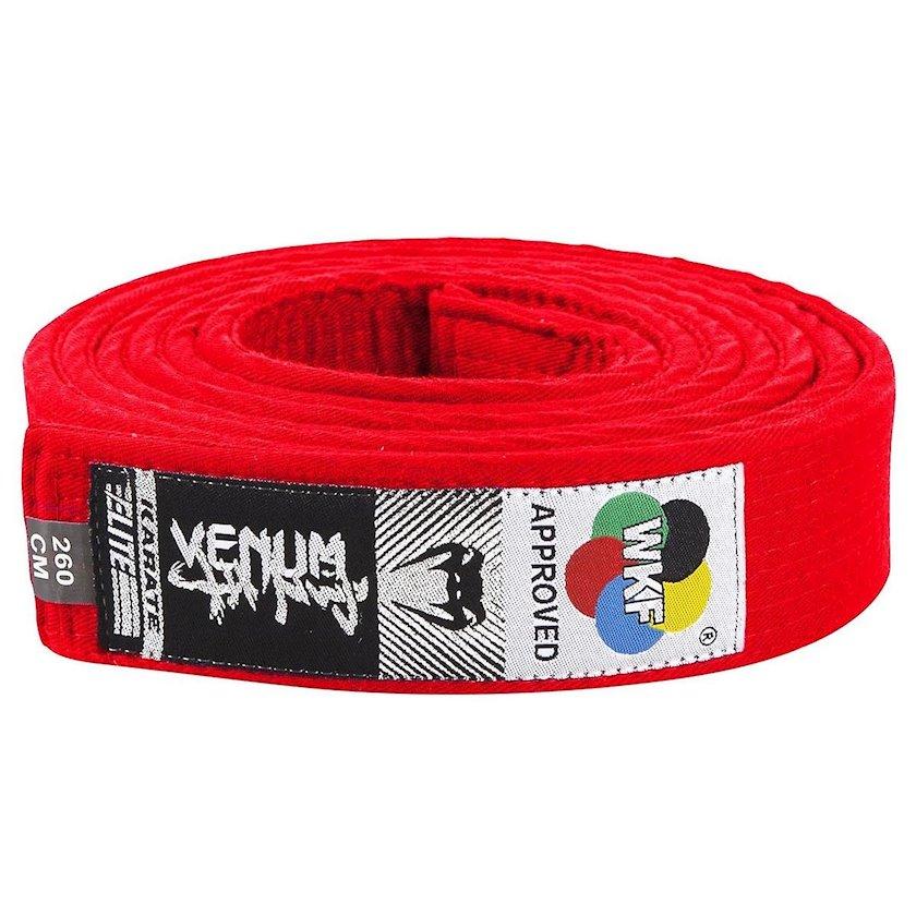 Karate üçün kəmər Venum WKF Approved qırmızı, uzunluq 260 sm