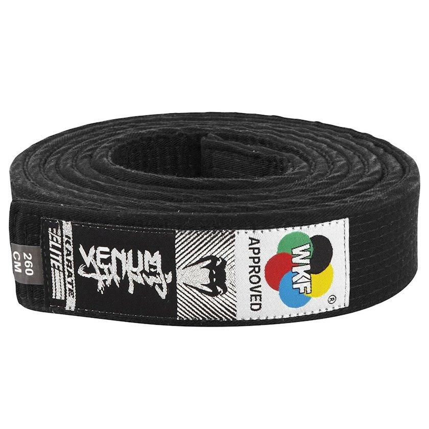 Karate üçün kəmər Venum WKF Approved qara, uzunluq 260 sm