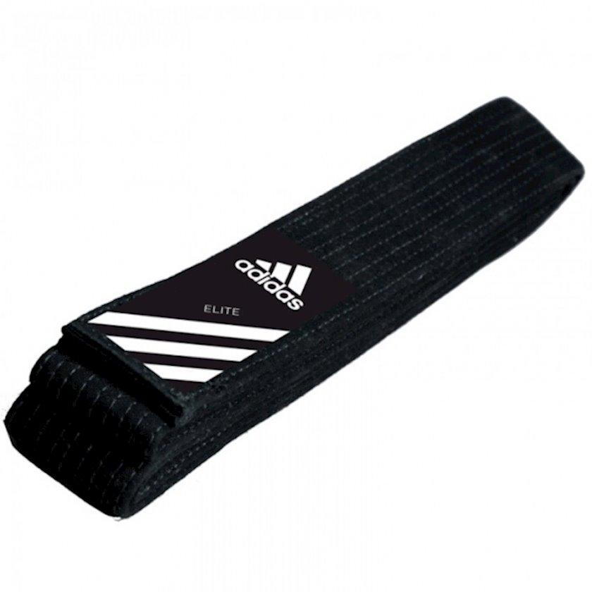 Cüdo üçün kəmər Adidas Elite Martial Arts qara, uzunluq 320 sm