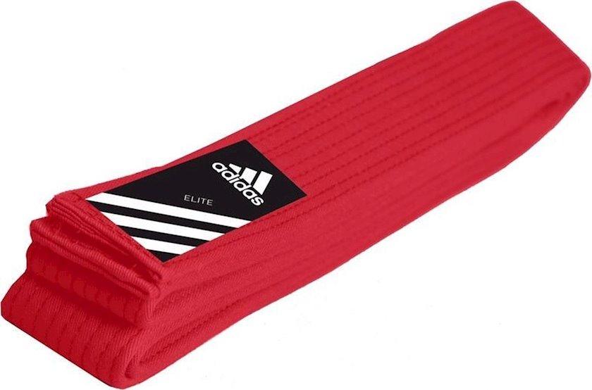 Cüdo üçün kəmər Adidas Elite Martial Arts qırmızı, uzunluq 260 sm