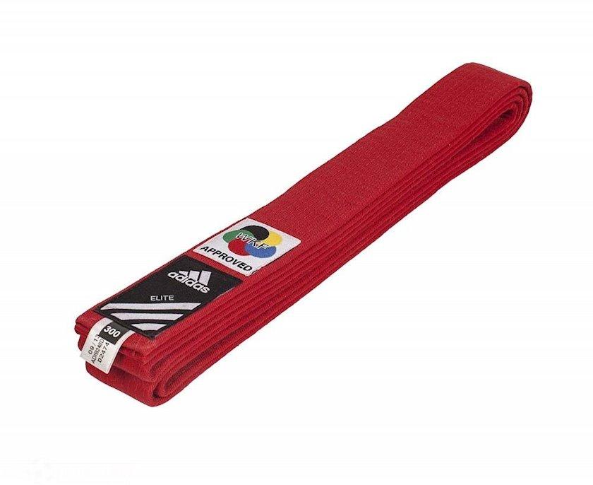 Cüdo üçün kəmər Adidas Elite Martial Arts qırmızı, uzunluq 300 sm