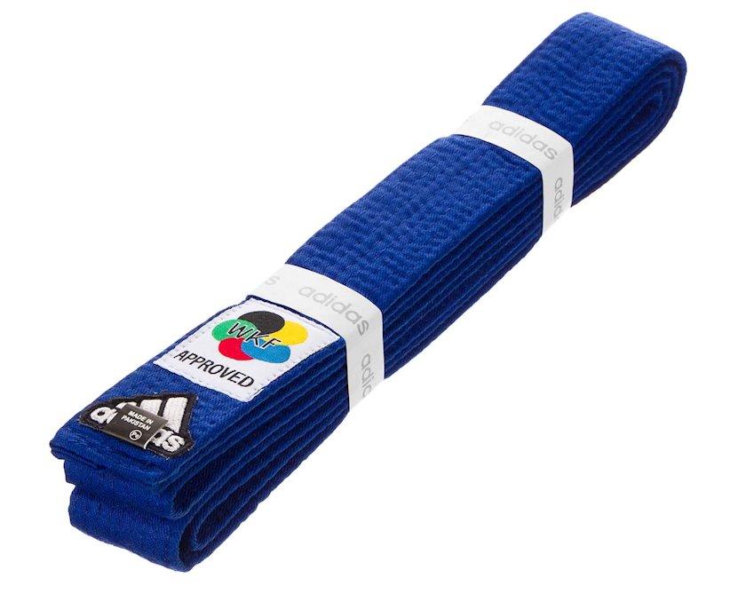 Karate üçün kəmər Adidas WKF Logo göy, uzunluq 300 sm