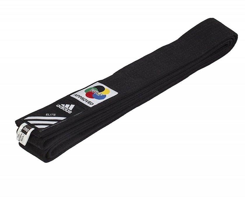 Karate üçün kəmər Adidas WKF Logo qara, uzunluq 300 sm