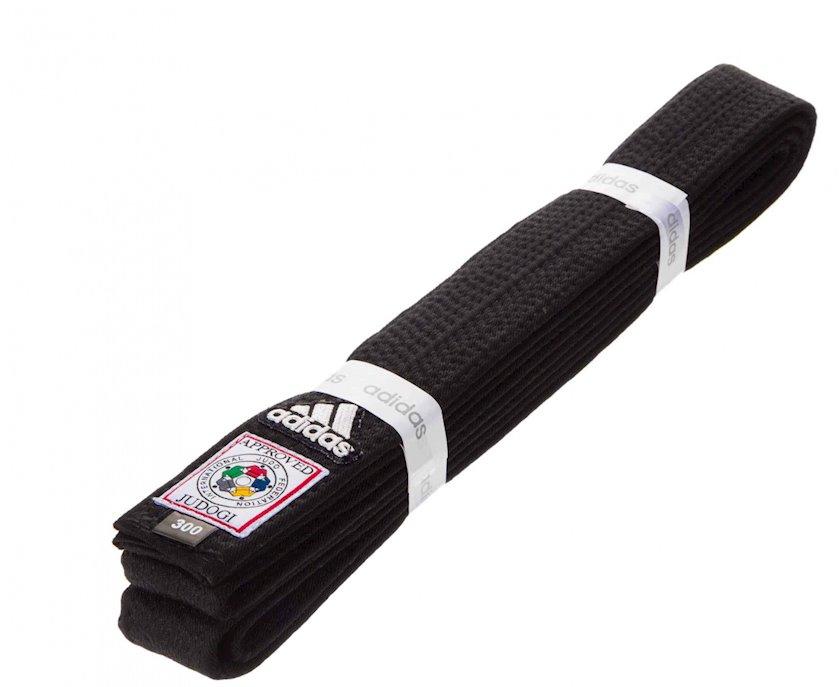 Cüdo üçün kəmər Adidas Elite IJF qara, uzunluq 320 sm