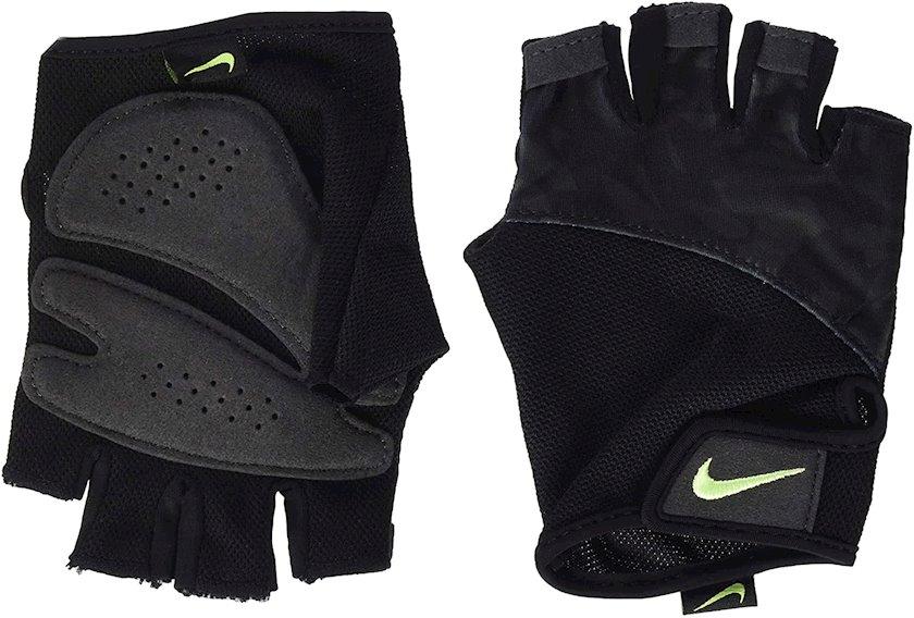 Fitnes üçün əlcəklər Nike Gym Elemental N.LG.D3.905.MD, Qadın üçün, Yapışqanlı kəmər, Neylon/Polyester/Poliuretan, Qara, Ölçü M
