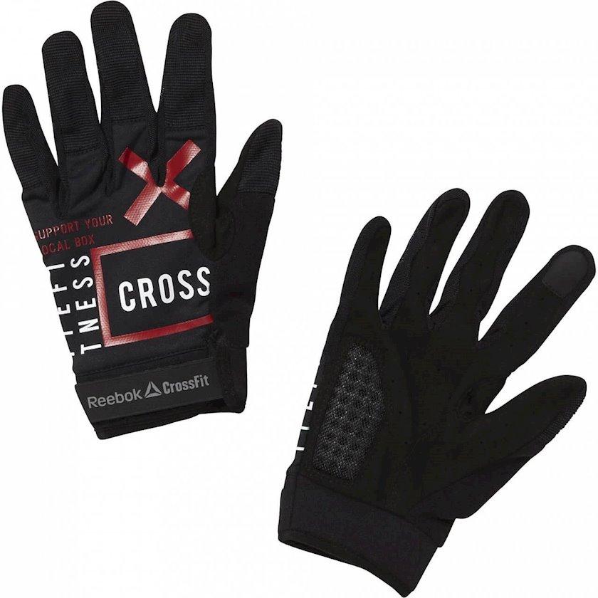 Məşq üçün əlcəklər Reebok CrossFit Training Gloves CZ9889, Qadın üçün, Yapışqanlı kəmər, Neylon/Spandeks, Qara, Ölçü L