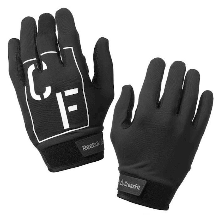 Məşq üçün əlcəklər Reebok CrossFit Unisex Grip Gloves CZ9927, Uniseks, Yapışqanlı kəmər, Poliamid/Elastan, Qara, Ölçü S
