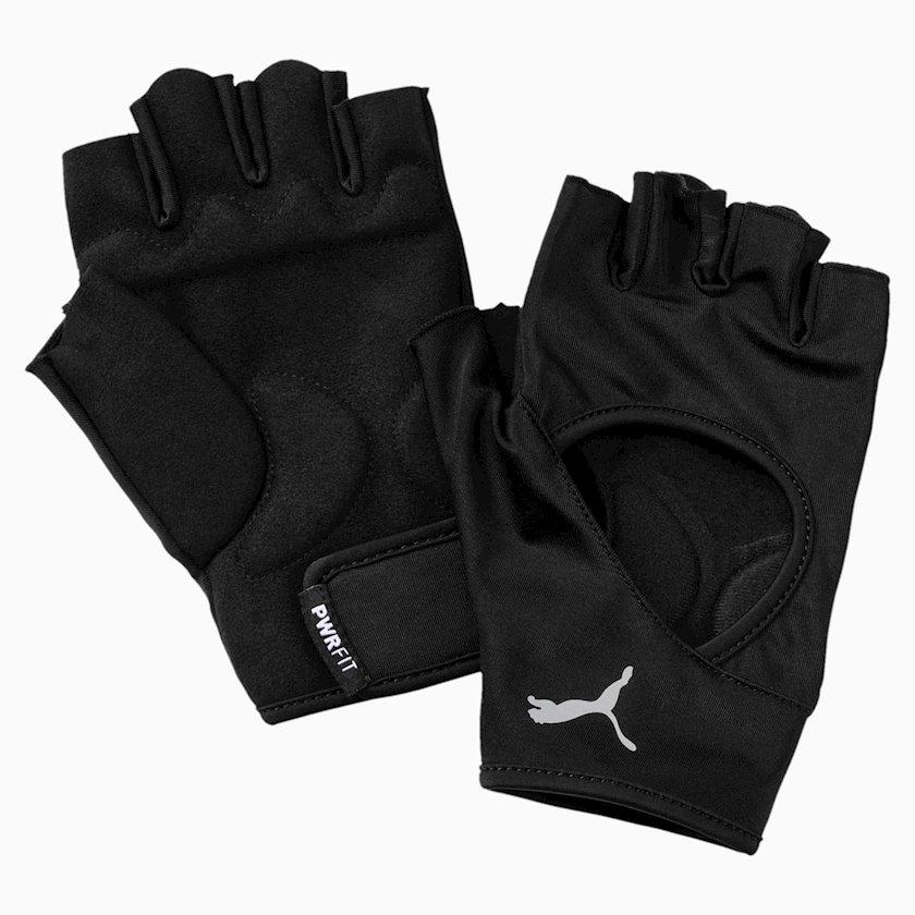 Məşq üçün əlcəklər Essential Training Gloves 04146501, Kişi üçün, Yapışqanlı kəmər, Neylon/Polyester Qara, Ölçü L