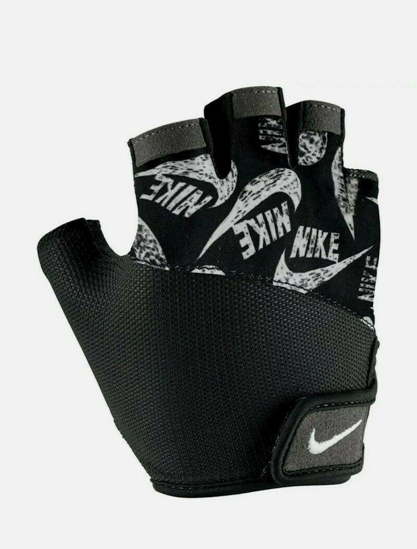 Fitnes üçün əlcəklər Nike Women's Gym Elemental Fitness Gloves 1469686, Qadın üçün, Yapışqanlı kəmər, Neylon/Polyester, Qara, Ölçü XS
