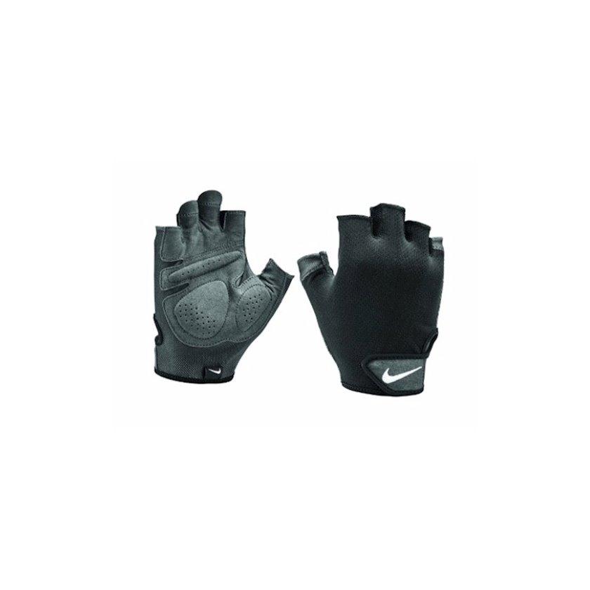 Məşq üçün əlcəklər Nike Higro Essential Fitness Gloves N.LG.C5.057.MD, Uniseks, Yapışqanlı kəmər, Sintetik dəri, Qara, Ölçü M