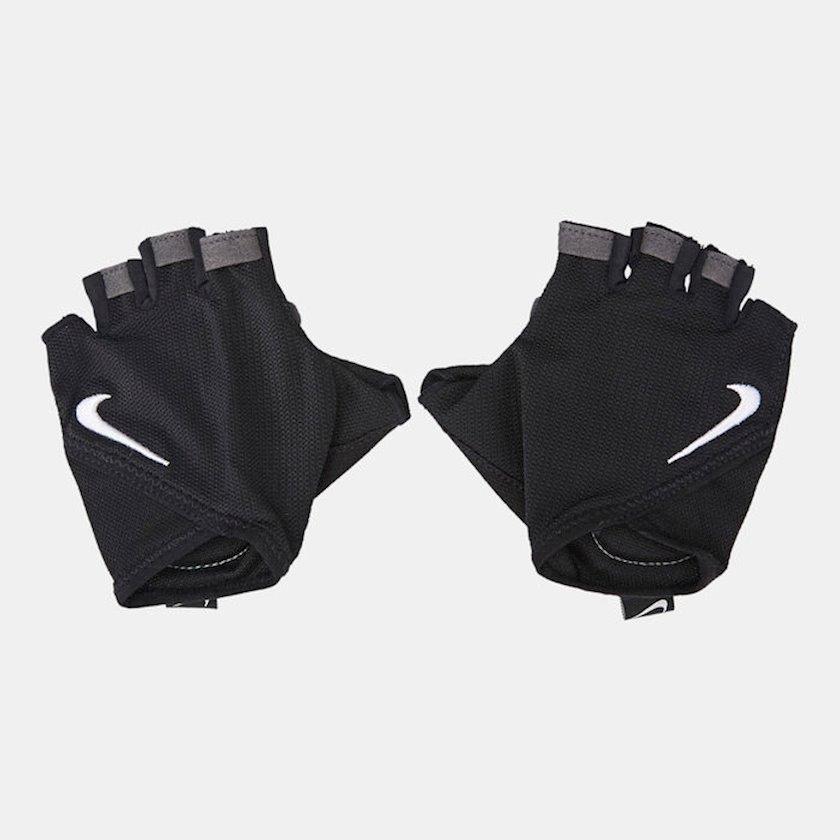 Məşq üçün əlcəklər Nike Women's Gym Essential Fitness Gloves N.000.2557.010.MD, Qadın üçün, Yapışqanlı kəmər, Neylon/Polyester/Poliuretan, Qara, Ölçü M