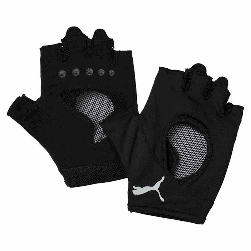 Məşq üçün əlcəklər Puma Women's Training Gym Gloves 04145901, Qadın üçün, Polyester, Qara, Ölçü S