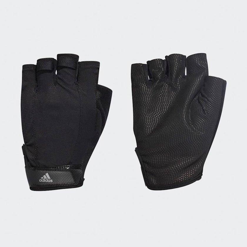 Məşq üçün əlcəklər Adidas Versatile Climalite DT7955, Uniseks, Yapışqanlı kəmər, Neylon/Polyester, Qara, Ölçü L