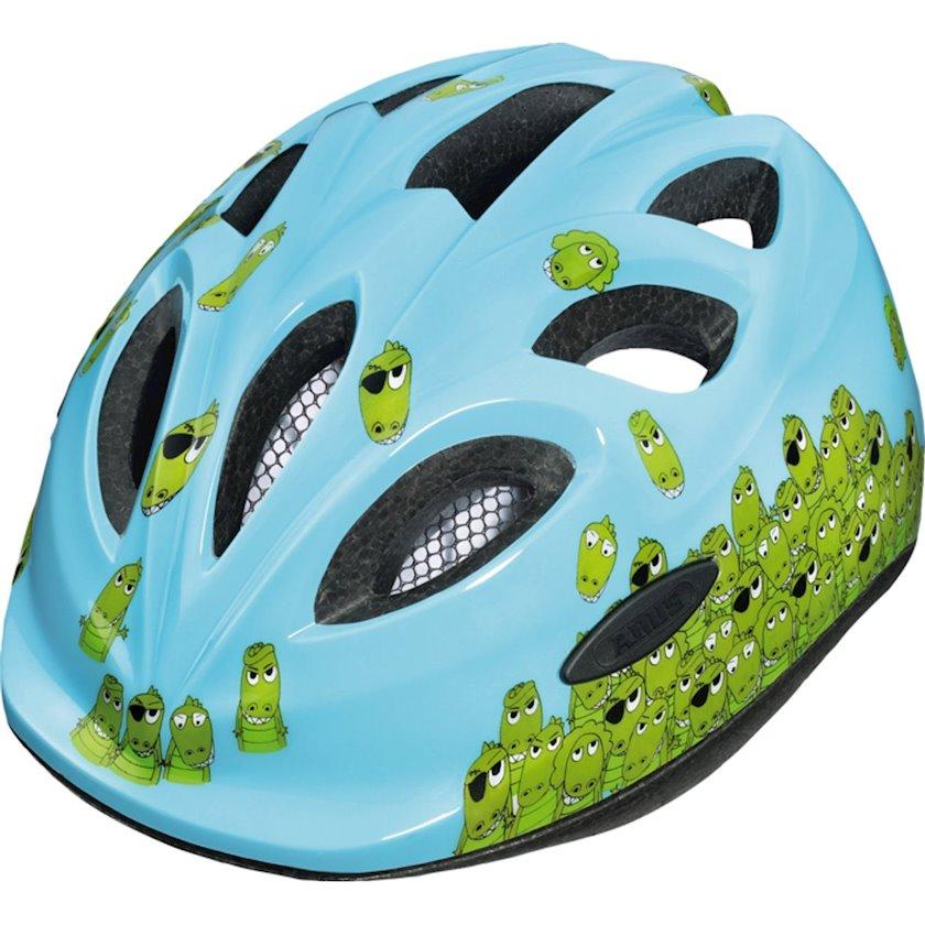 Uşaq velosiped dəbilqəsi Abus Helmet Smiley Croco, 3-10 yaş uşaqlar üçün, başın çevrəsi 45-50 sm