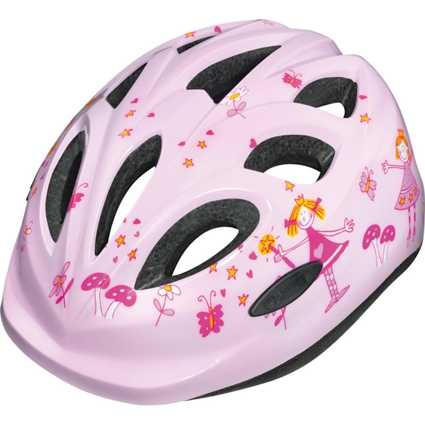 Uşaq velosiped dəbilqəsi Abus Helmet Smiley 2.0 Rose Princess, 2 yaşdan qızlar üçün, başın çevrəsi 45-50 sm