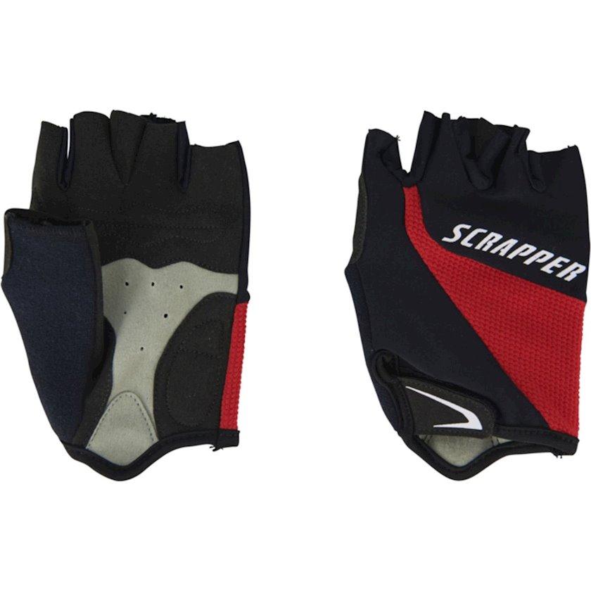 Velosiped əlcəyi Scrapper Scr Gant Sport 8, Uniseks, Qara-qırmızı, Ölçü L