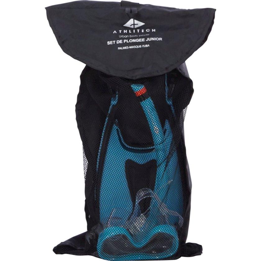 Şnorkel kompletki Athli-tech Up2Glide Set Pmt Junior, mavi, ölçü universal, uşaq üçün