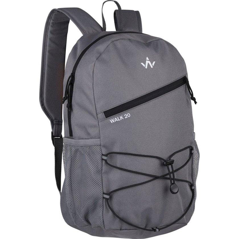 Bel çantası Wanabee Walk 20 Recy, Uniseks, Boz, Həcm 20 l, 41 sm х 28 sm х 19 sm, 220 q