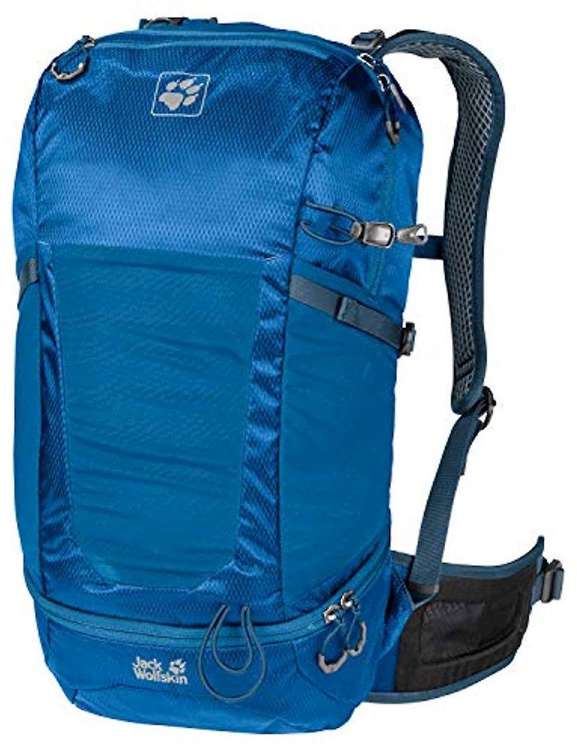 Trekkinq bel çantası Jack Wolfskin Kingston 22 Pack Daypack Electric Blue, Uniseks, Mavi, Həcm 22 l, 53 sm х 25 sm х 19 sm, 845 q