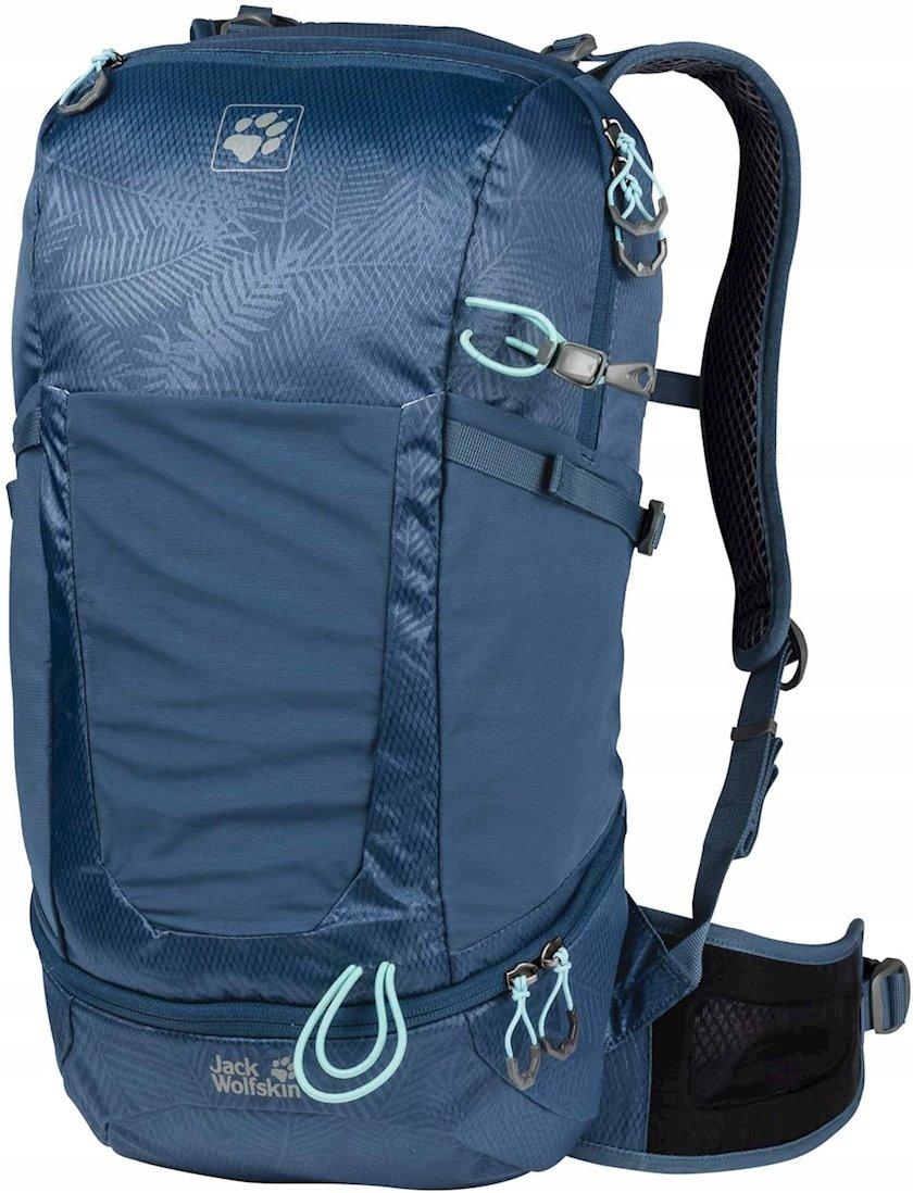 Trekkinq bel çantası Jack Wolfskin Kingston 22 Pack Daypack Leaf Dark Sky, Uniseks, Tünd-Mavi, Həcm 22 l, 53 sm х 25 sm х 19 sm, 845 q