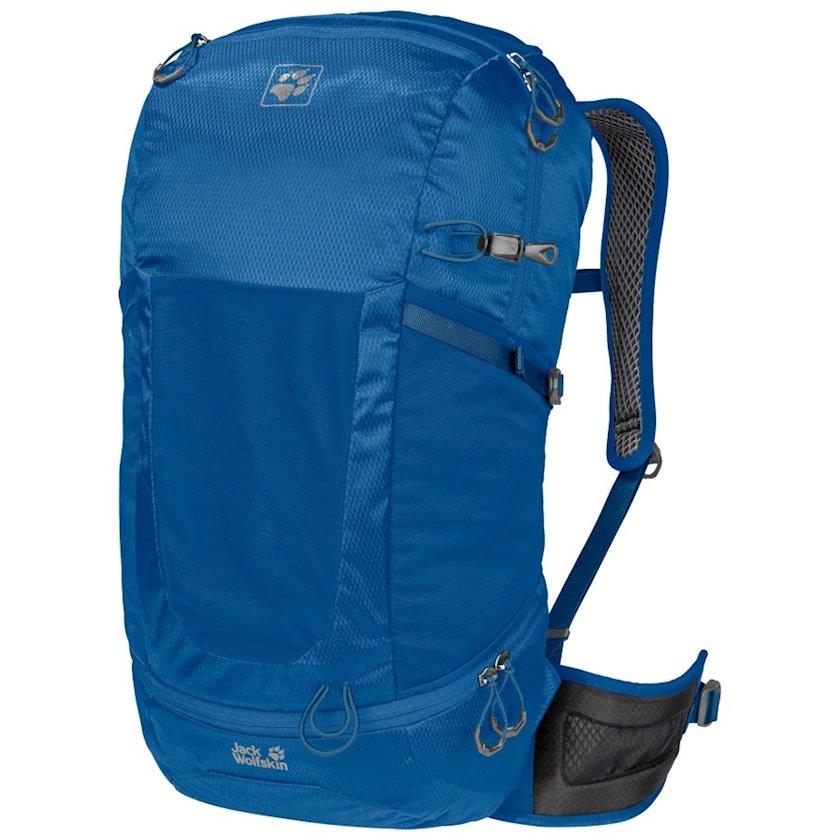 Trekkinq bel çantası Jack Wolfskin Kingston 30 Pack Daypack Electric Blue, Uniseks, Mavi, Həcm 30 l, 53 sm х 26 sm х 23 sm, 930 q