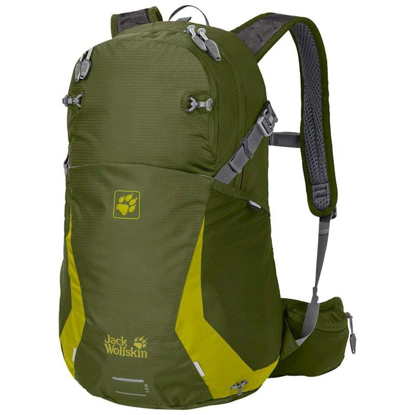 Velosiped bel çantası Jack Wolfskin Unisex Moab Jam 24L Cypress Green, Uniseks, Mavi, Həcm 24 l, 50 sm х 30 sm х 24 sm, 850 q