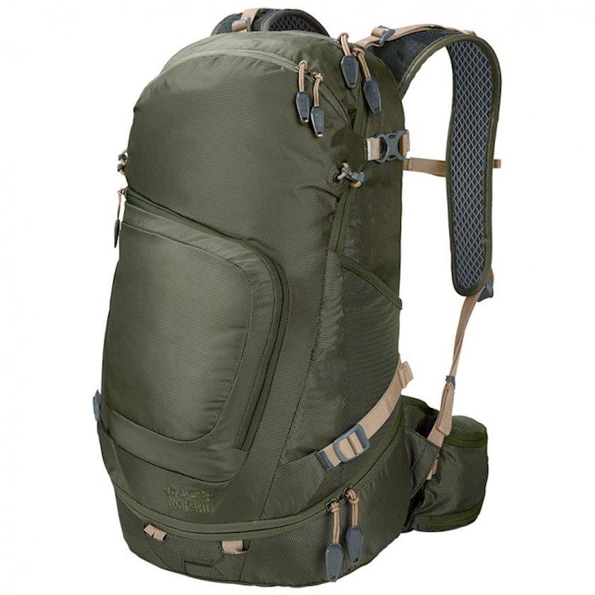 Trekkinq bel çantası Jack Wolfskin Crosser 26 Pack Green, Uniseks, Yaşıl, Həcm 26 l, 53 sm x 31 sm x 27 sm, 1170 q
