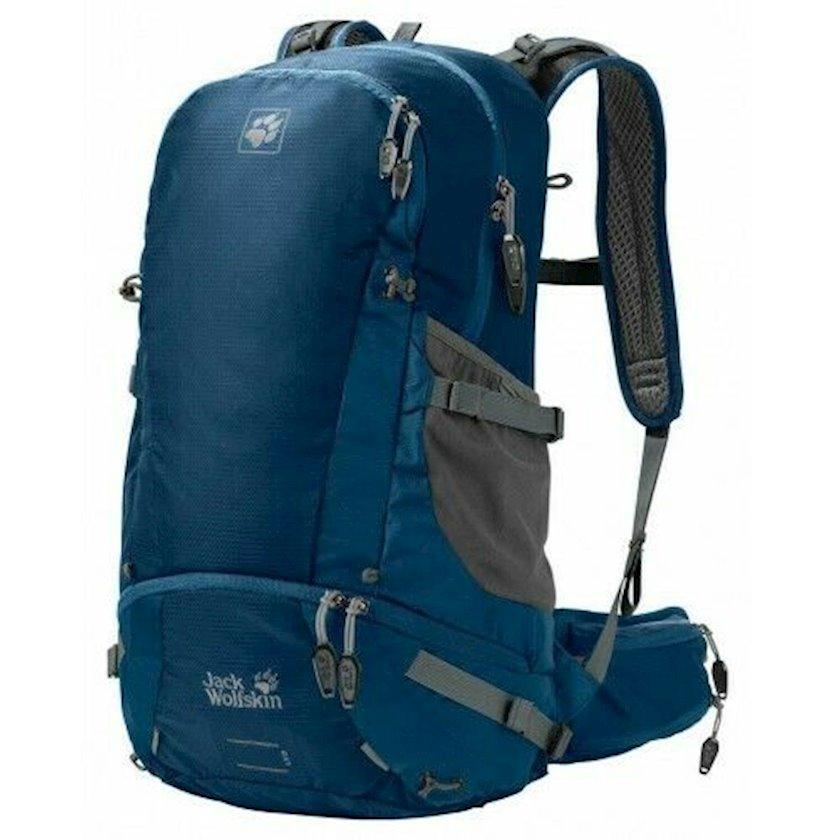 Trekkinq bel çantası Jack Wolfskin Moab Jam 34 Poseidon Blue, Uniseks, Mavi, Həcm 34 l, 56 sm x 33 sm x 25 sm, 1190 q