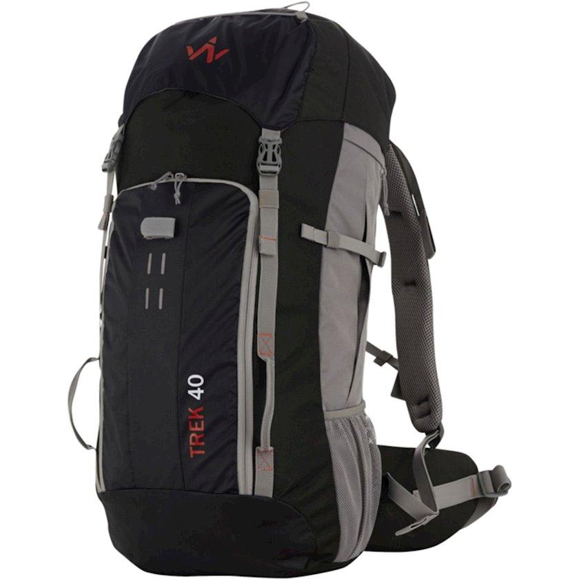 Trekkinq bel çantası Wanabee Trek 40 Black/Grey, Uniseks, Qara/Boz, Həcm 40 l, 65 sm x 32 sm x 22 sm, 1550 q