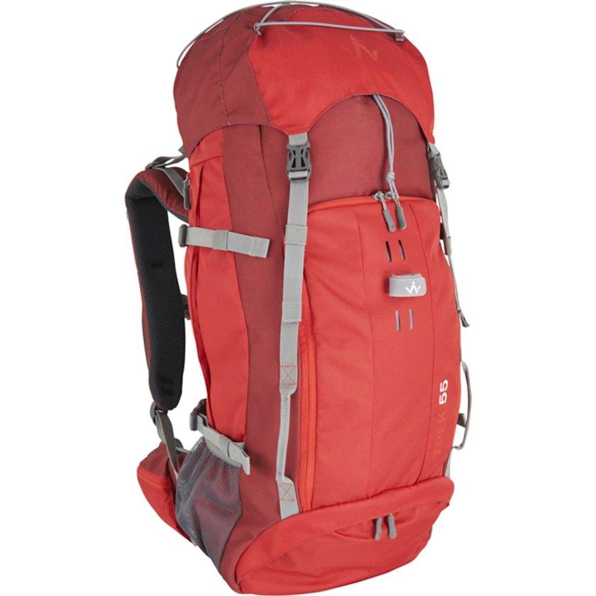 Trekkinq bel çantası Wanabee Trek 55 Red, Uniseks, Qırmızı, Həcm 55 l, 70 sm x 32 sm x 26 sm, 1425 q