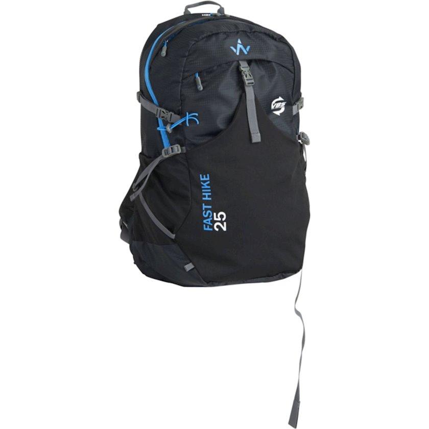 Trekkinq bel çantası Wanabee Fast Hike 25, Uniseks, Qara, Həcm 25 l, 700 q