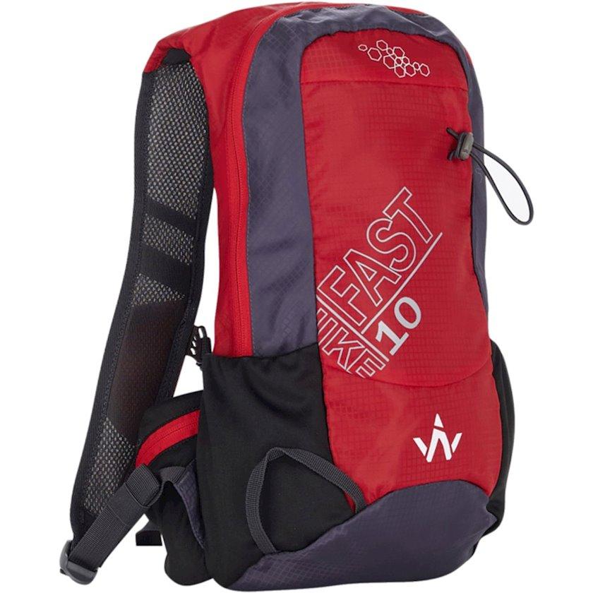 Bel çantası Wanabee Fast Hike 10, Uniseks, Qırmızı, Həcm 10 l, 39 sm x 19 sm x 12 sm, 300 q