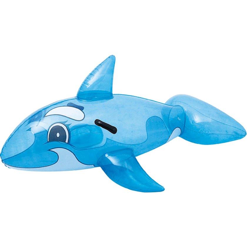 Üzmək üçün Şişirdilən oyuncaq Bestway Chew Baleine Trans, Balina formasında, 2 möhkəm plastik tutacaqlar, Uşaqlar üçün, Mavi, 118x72 sm