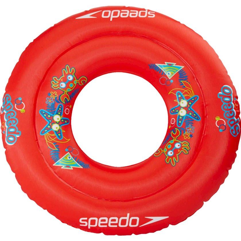 Şişirdilən dairə Speedo Sea Squad Swim Ring IU Rouge, Uşaqlar üçün, Qırmızı, Maksimal çəki 18 kq