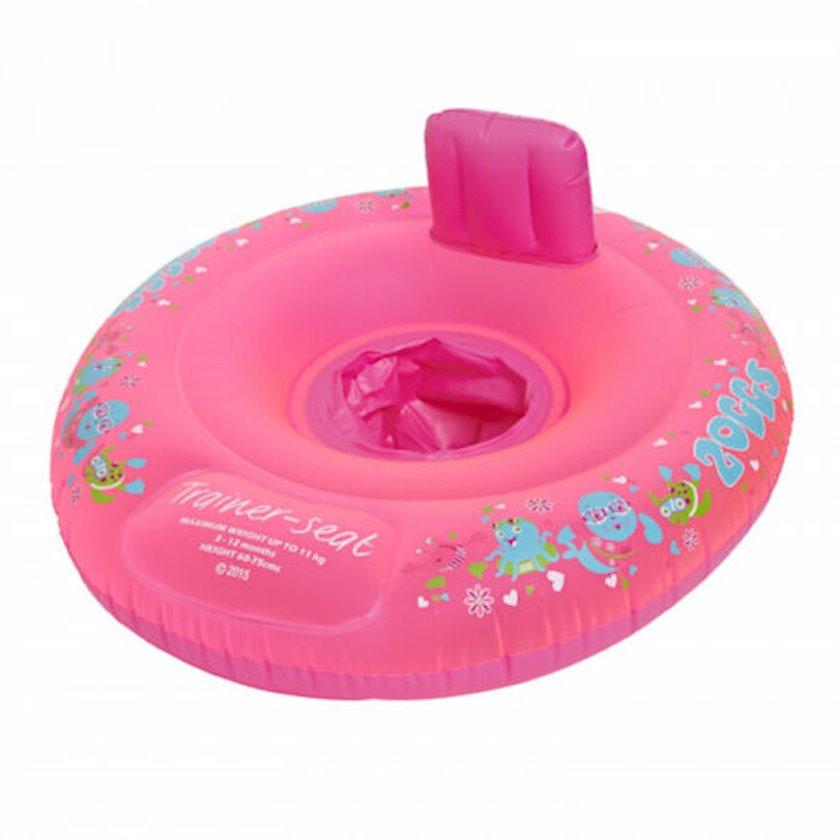 Şişirdilən dairə-oturacaq Zoggs Zoggy Trainer Seat Pink 3-12 month, Uşaqlar üçün, Çəhrayı, Maksimal çəki 11 kq