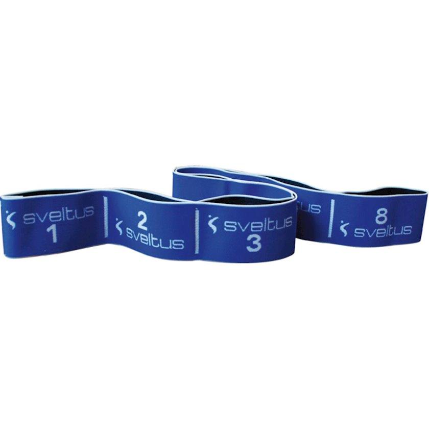 Espander Sveltus Elastiband, Yüklənmə 20 kq, Uzunluğu 90 sm, Polyester, Mavi