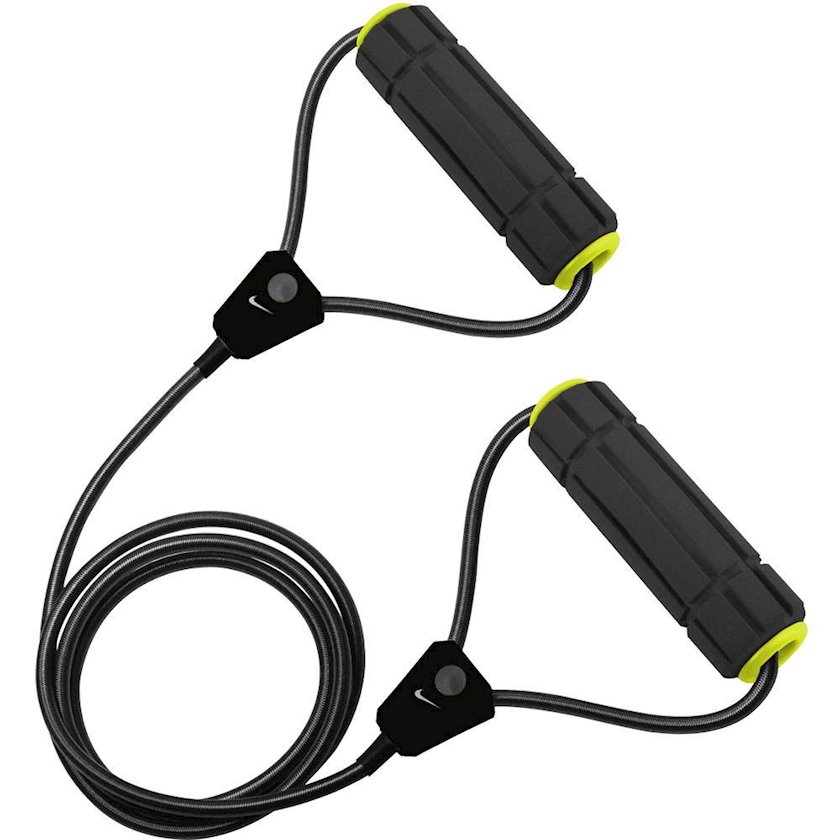 Müqavimət trenajoru Nike Resistance Band 2.0 Heavy, Yüklənmə Ağır, Uzunluğu universal, Rezin/Polipropilen, Qara