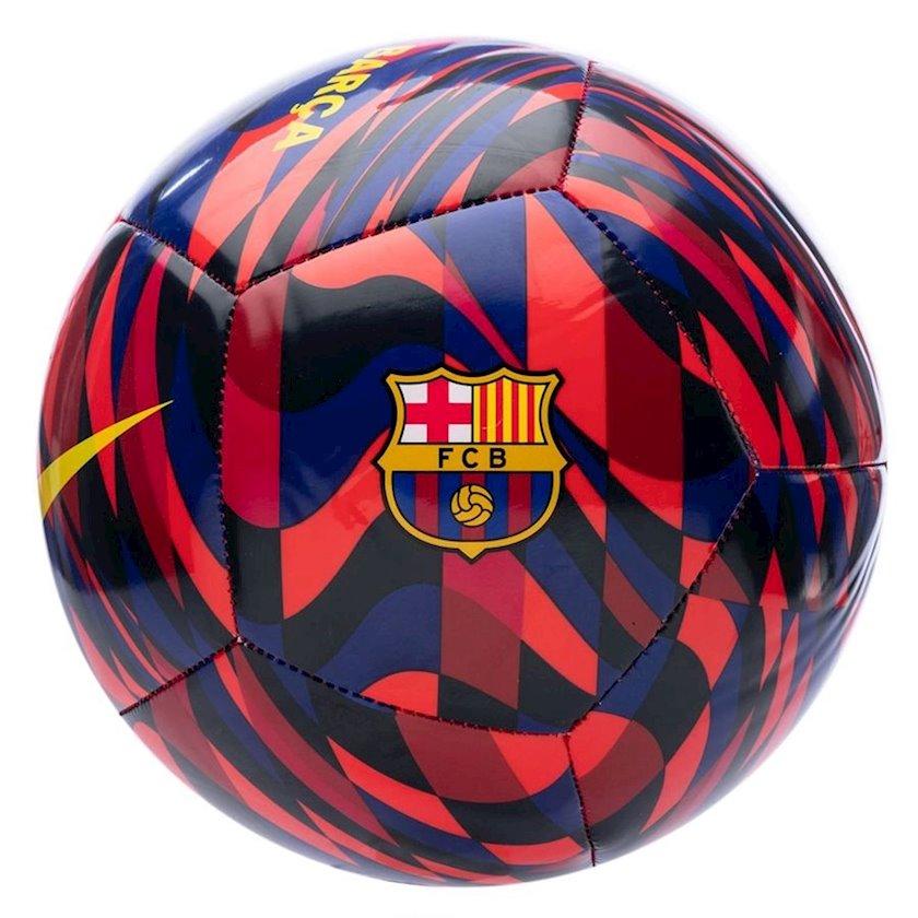 Futbol topu NIKE FCB PTCH, Göy/Qırmızı/Qara, Ölçü 5