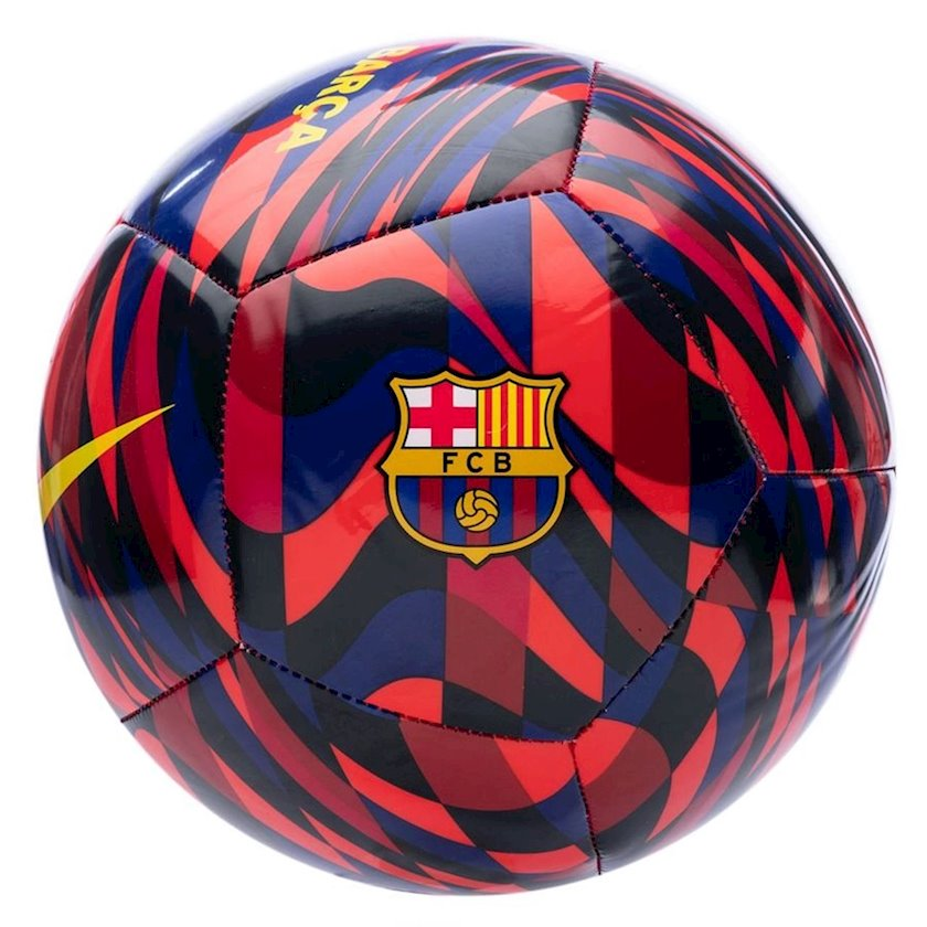 Futbol topu NIKE FCB PTCH, Göy/Qırmızı/Qara, Ölçü 4
