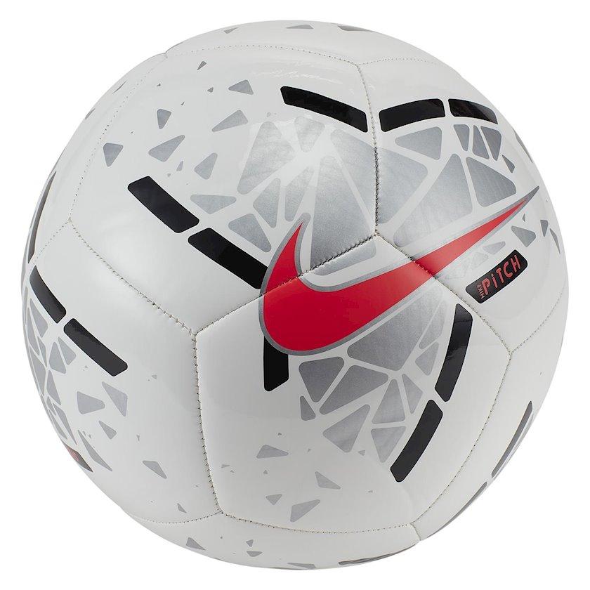 Futbol topu Nike Pitch, Ağ/Gümüşü/Qara, Ölçü 5