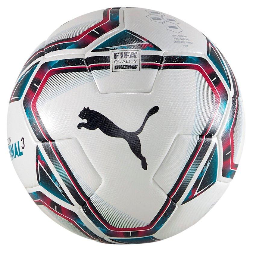 Futbol topu Puma teamFINAL 21/3 FIFA Quality Ball, Ağ/Qara/Mavi/Çəhrayı, Ölçü 5