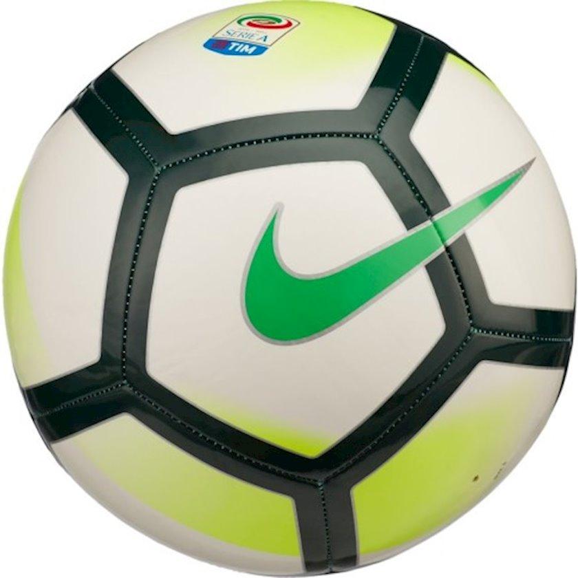 Futbol topu Nike Pitch Serie A, Ağ/Qara/Sarı/Yaşıl, Ölçü 4