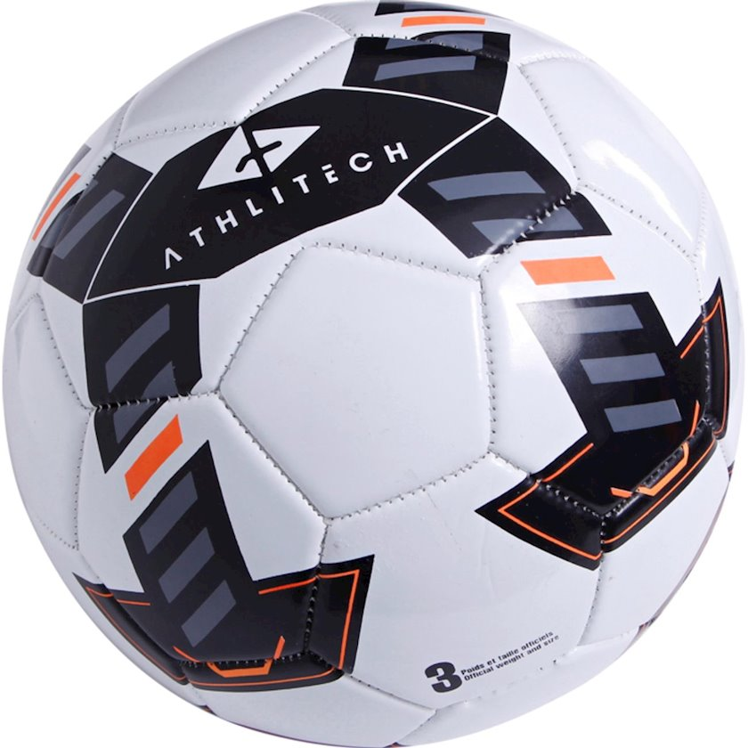 Futbol topu ATHLITECH ATHLI, Ağ/Qara/Göy/Narıncı, Ölçü 3