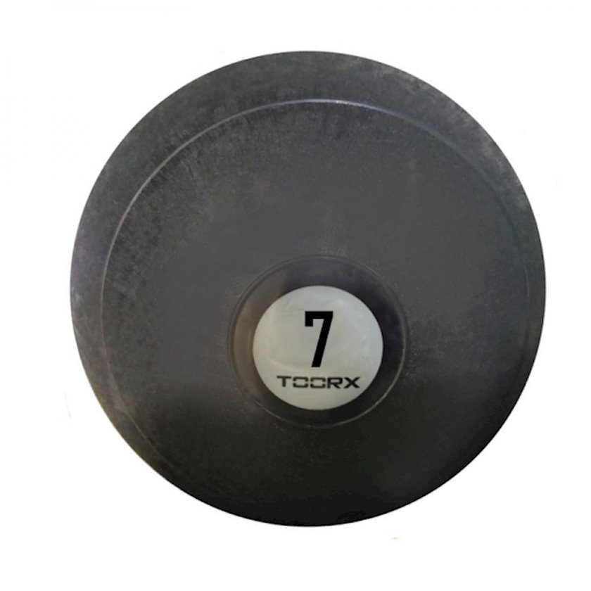 Fitbol Toorx SLAM BALL, sıçrayışa qarşı müdafiə, 23 sm, 7 kq, qara